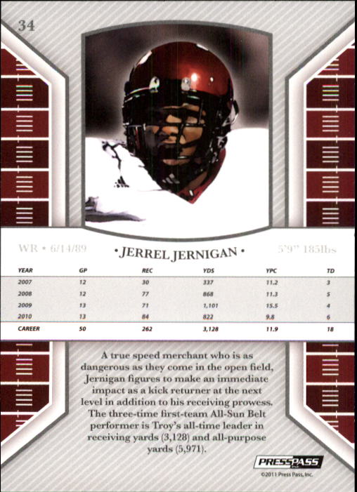 2011 Press Pass Legends #34 Jerrel Jernigan back image
