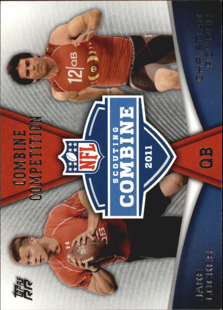 2011 Topps Rising Rookies Combine Competition #CCLP Jake Locker/Christian Ponder