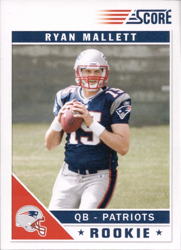 2011 Score #385A Ryan Mallett RC/(black stands in background)