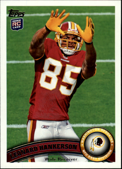 2011 Topps #11A Leonard Hankerson RC/(no football in photo)