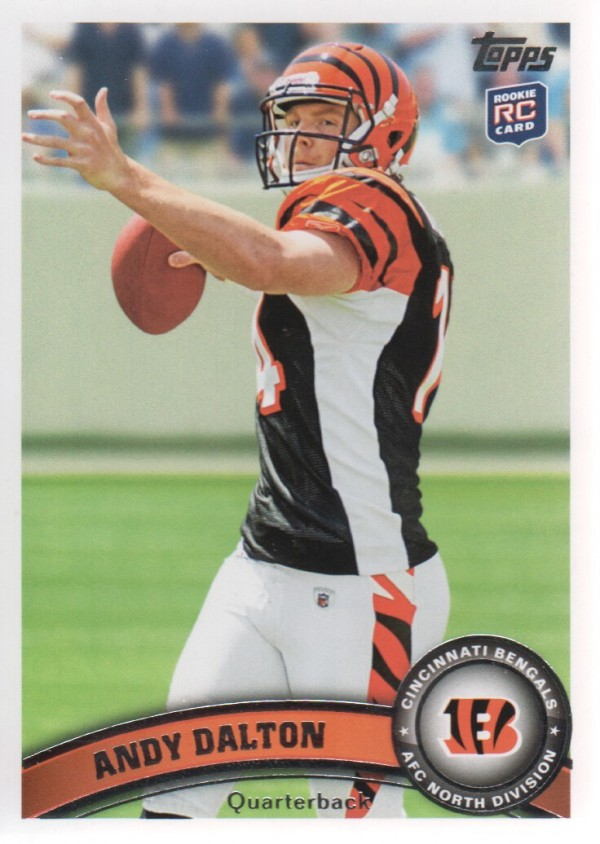 2011 Topps #70A Andy Dalton RC/(football in hand)