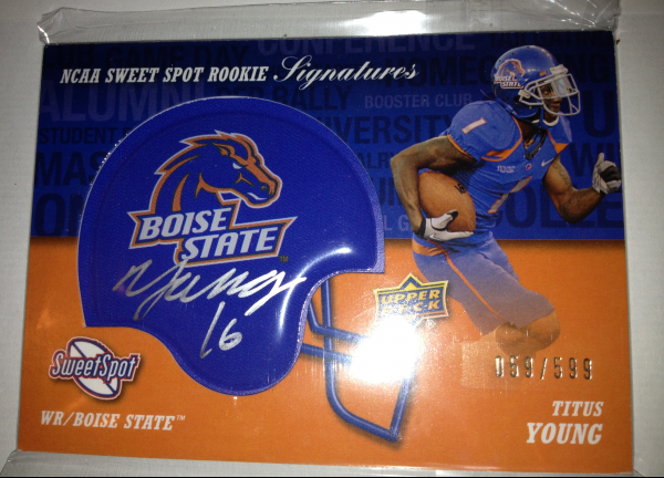 2011 Sweet Spot Rookie Signatures #RSTY Titus Young/599