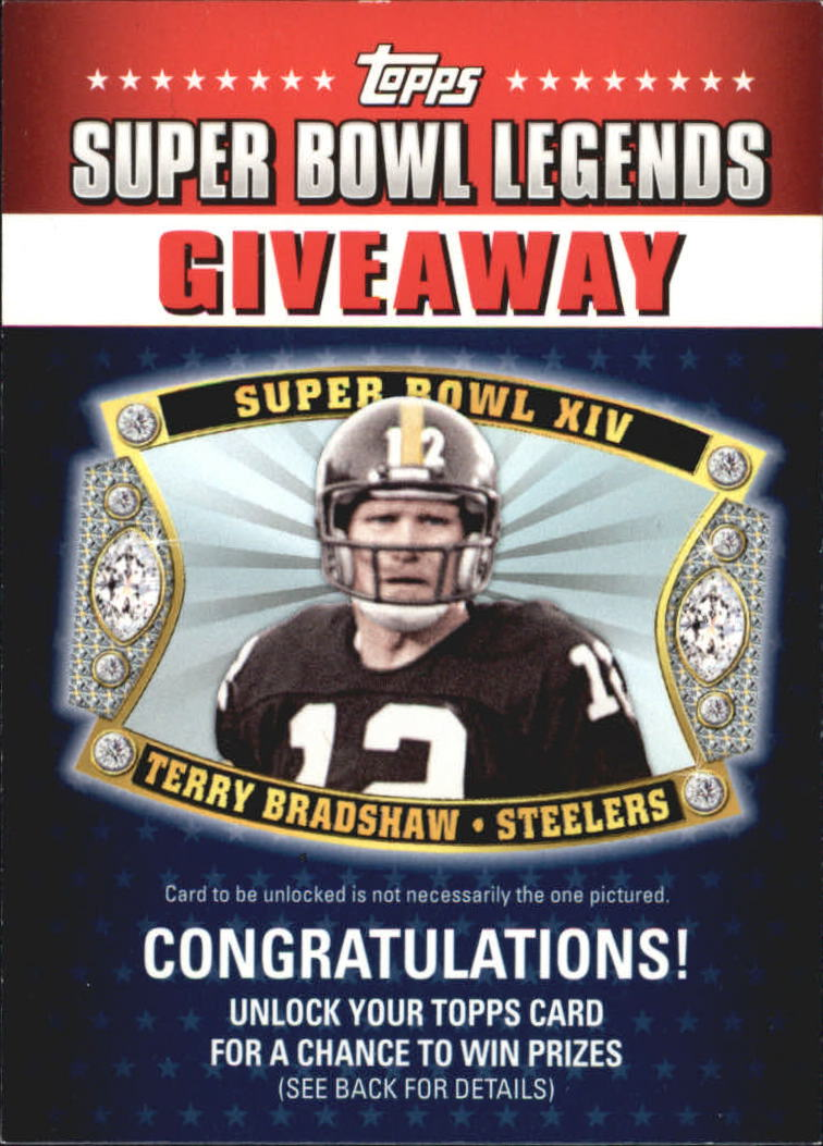2011 Topps Super Bowl Legends Giveaway #SBLG2 Terry Bradshaw