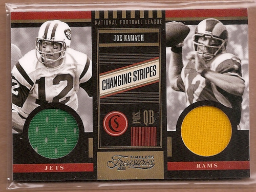 2011 Timeless Treasures Changing Stripes #14 Joe Namath/249