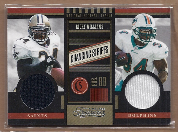 2011 Timeless Treasures Changing Stripes #25 Ricky Williams/249