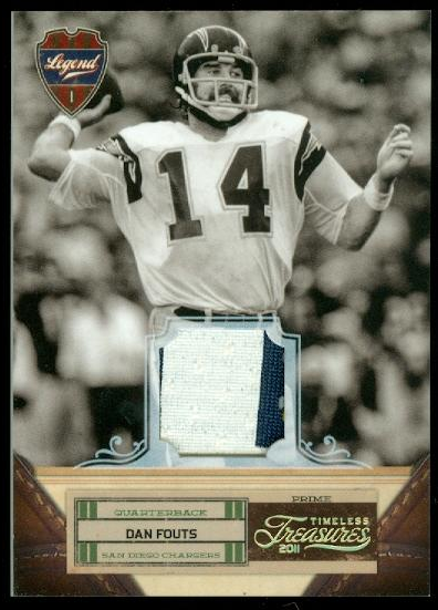 2011 Timeless Treasures Jerseys Prime #107 Dan Fouts/25