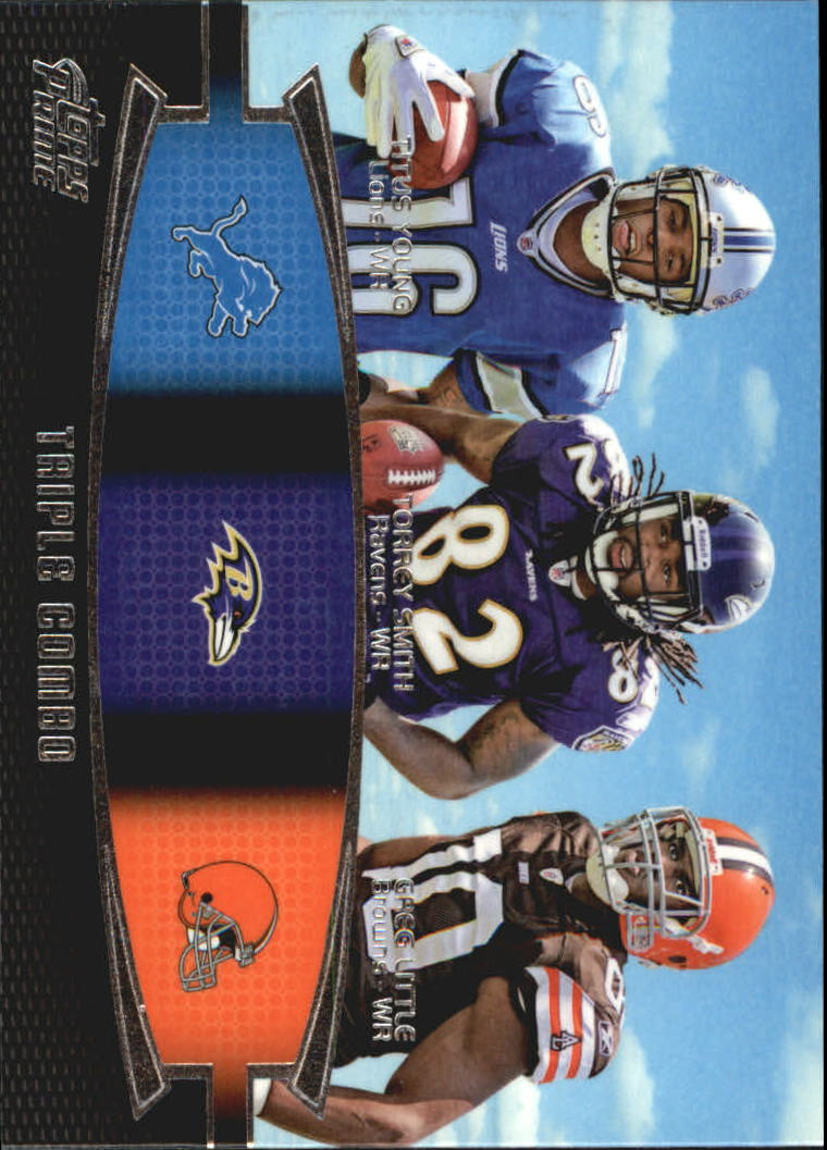 2011 Topps Prime Triple #YSL Titus Young/Torrey Smith/Greg Little