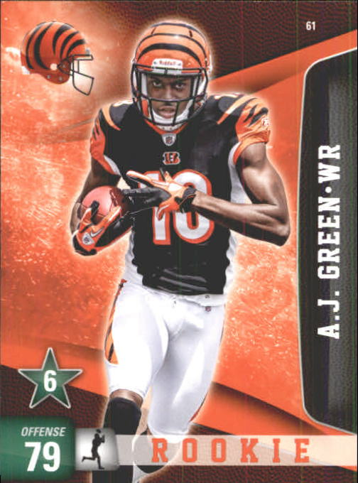 2011 Adrenalyn XL #61 A.J. Green RC