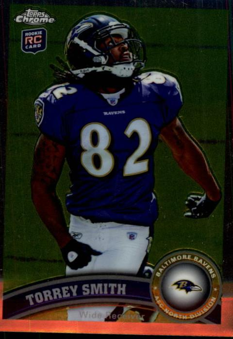 2011 Topps Chrome #97A Torrey Smith RC/(looking up for football)