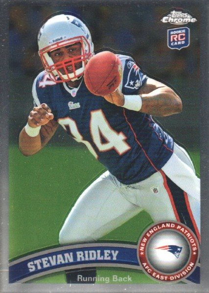 2011 Topps Chrome #193 Stevan Ridley RC