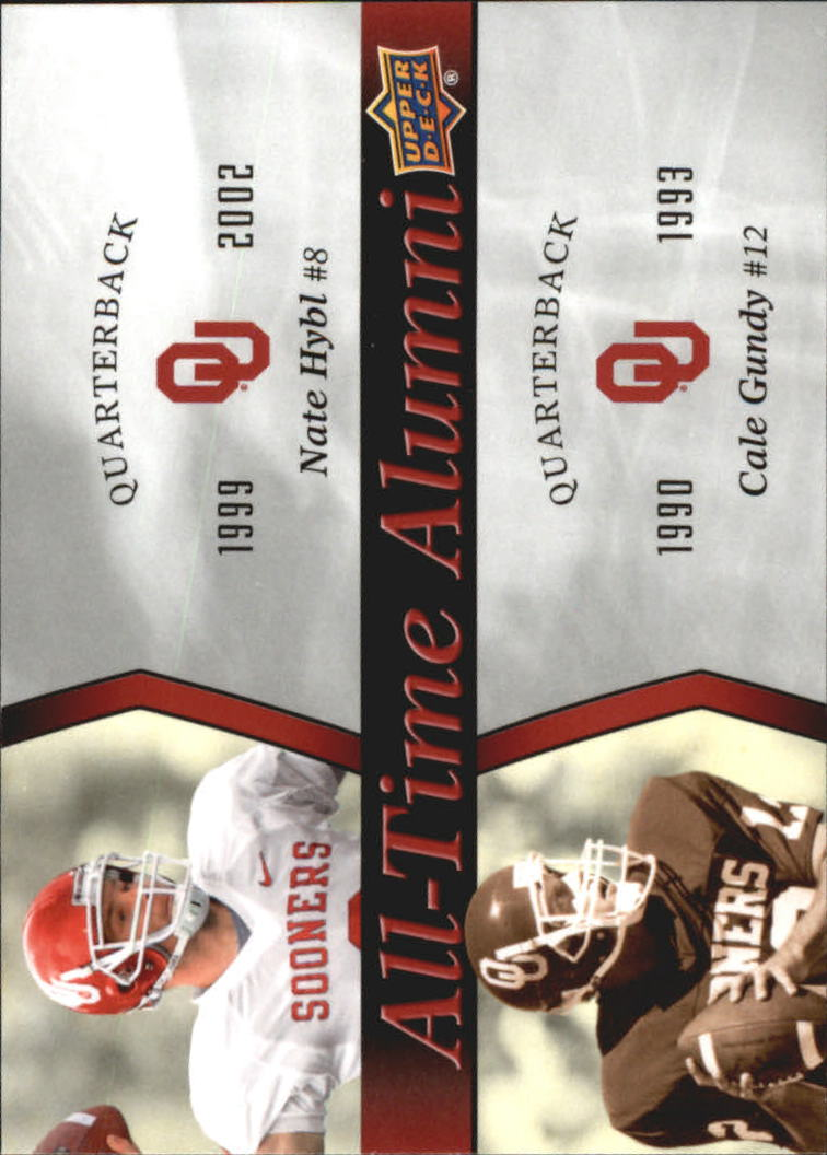 2011 Upper Deck Oklahoma All-Time Alumni Duos #ATADHG Nate Hybl/Cale Gundy