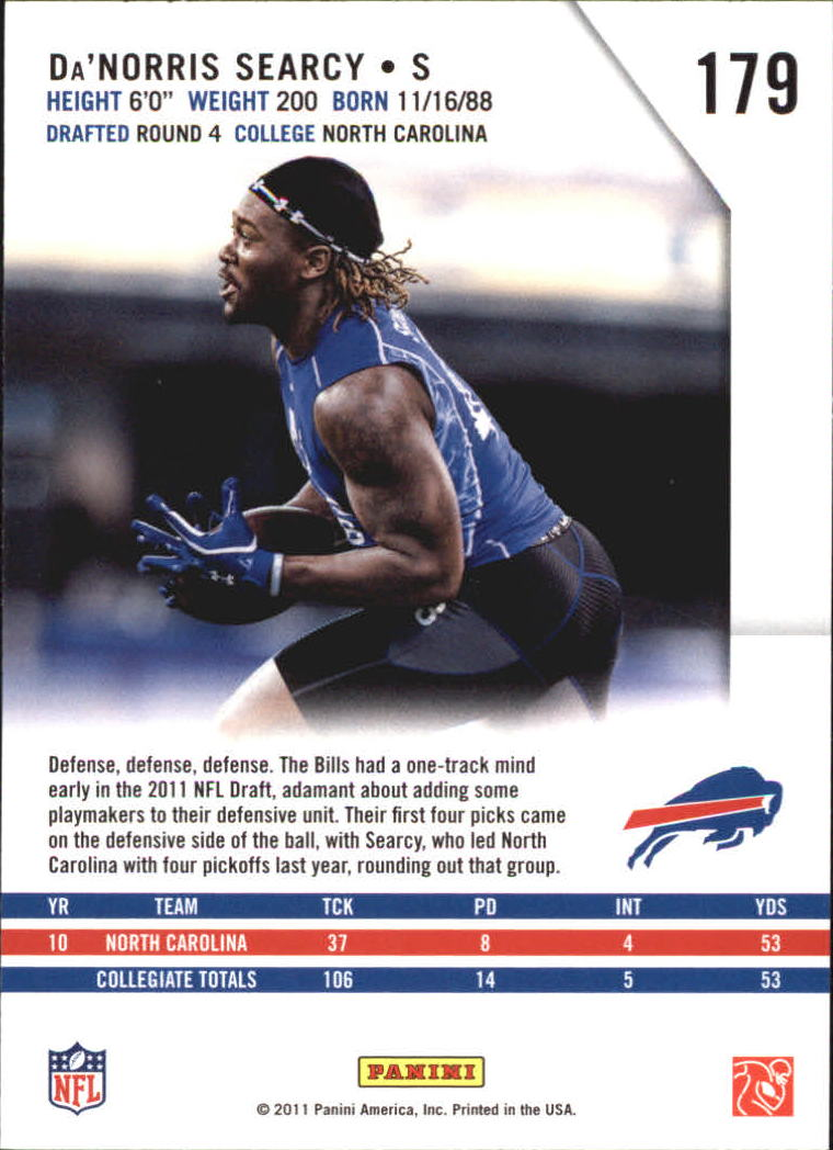 2011 Rookies and Stars Longevity #179 Da'Norris Searcy RC