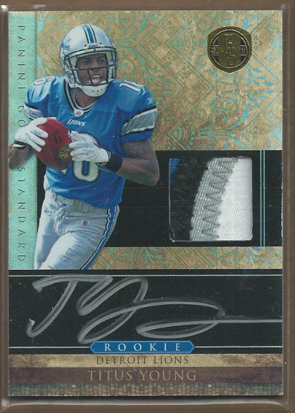 2011 Panini Gold Standard #265 Titus Young JSY AU/499 RC