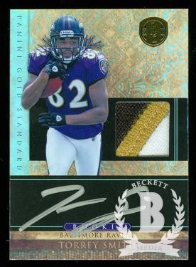 2011 Panini Gold Standard #268 Torrey Smith JSY AU/525 RC
