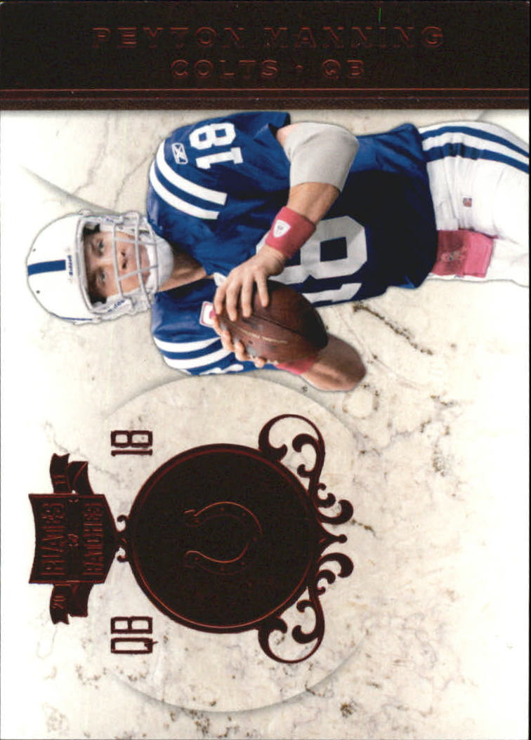 2011 Panini Plates and Patches #18 Peyton Manning