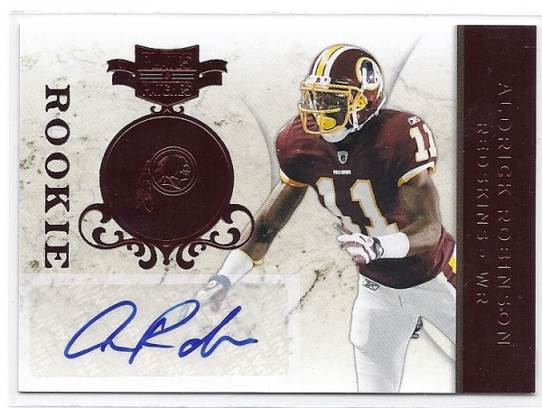 2011 Panini Plates and Patches #107 Aldrick Robinson AU/199 RC