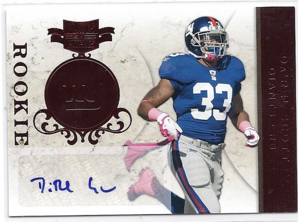 2011 Panini Plates and Patches #122 Da'Rel Scott AU/199 RC