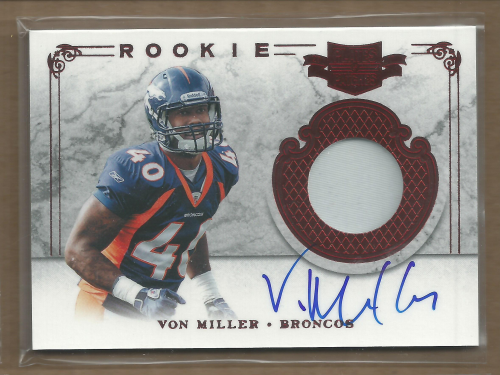 2011 Panini Plates and Patches #202 Von Miller JSY AU/499 RC