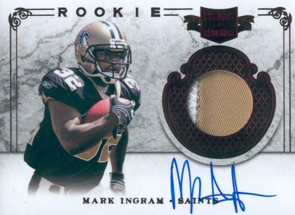2011 Panini Plates and Patches #210 Mark Ingram JSY AU/299 RC