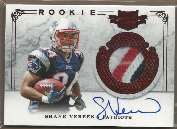 2011 Panini Plates and Patches #216 Shane Vereen JSY AU/499 RC