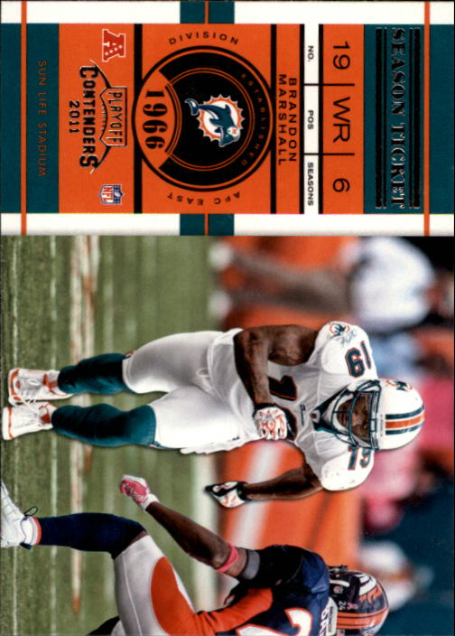 2011 Playoff Contenders #4 Brandon Marshall
