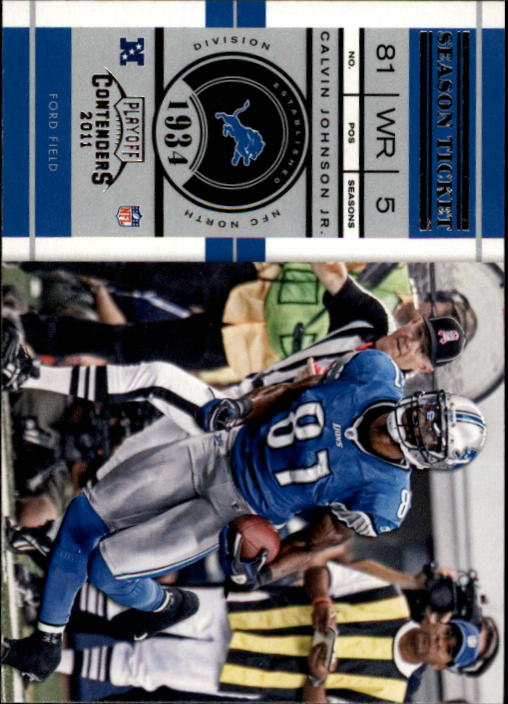 2011 Playoff Contenders #67 Calvin Johnson