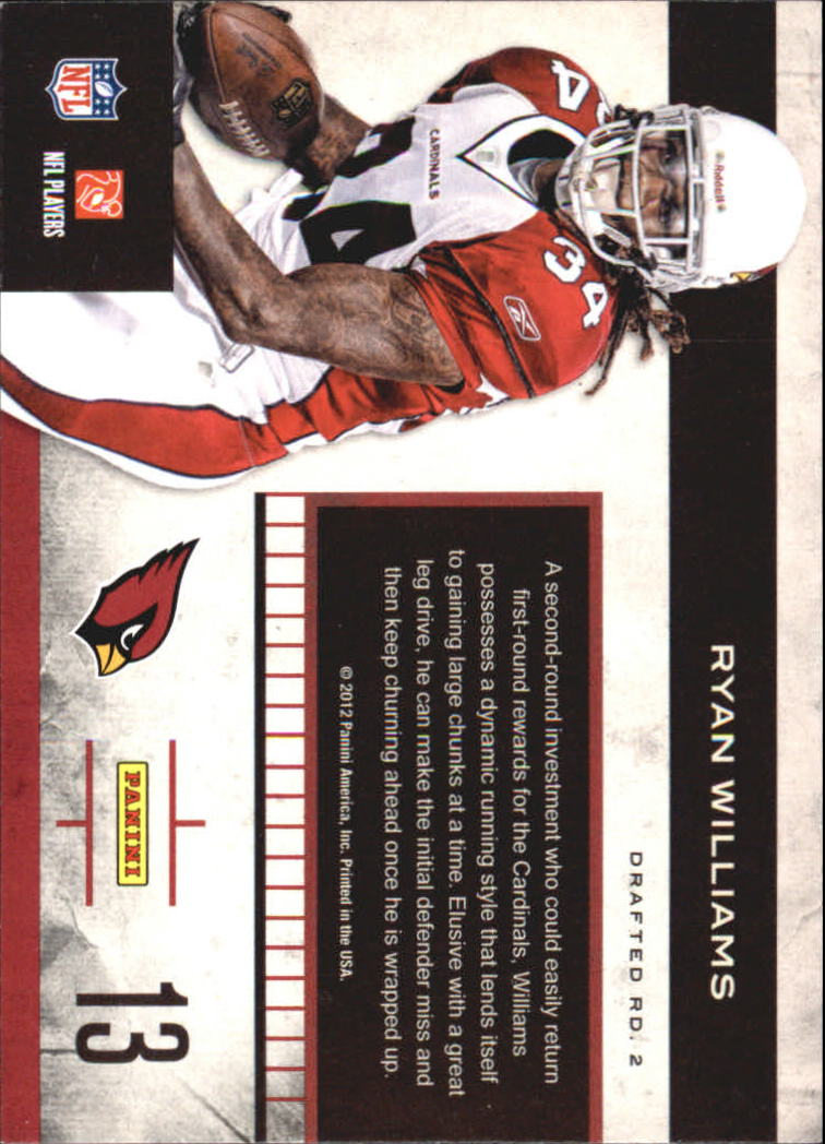 2011 Playoff Contenders Rookie Roll Call #13 Ryan Williams back image