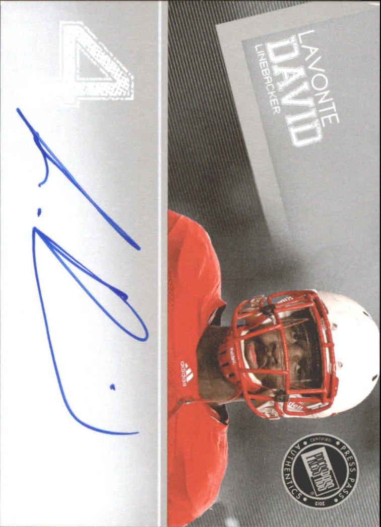 2012 Press Pass Autographs Silver #PPSLD Lavonte David