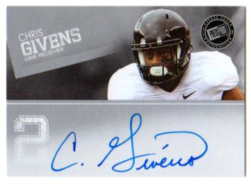 2012 Press Pass Autographs Silver #PPSCG2 Chris Givens