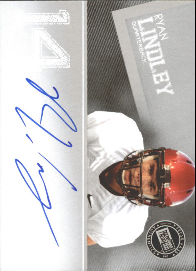 2012 Press Pass Autographs Silver #PPSRL Ryan Lindley