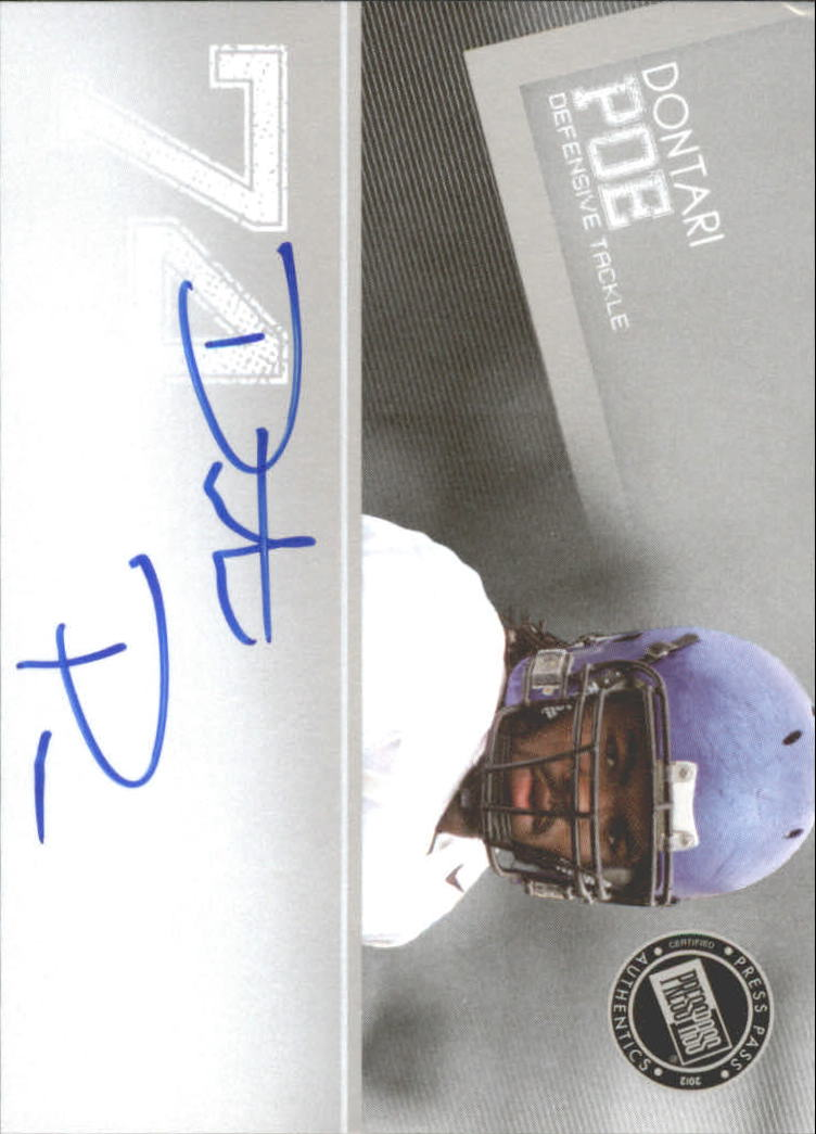 2012 Press Pass Autographs Silver #PPSDP2 Dontari Poe