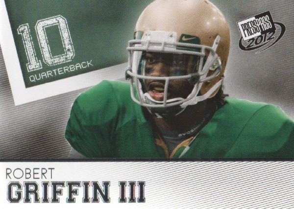 2012 Press Pass #20 Robert Griffin III