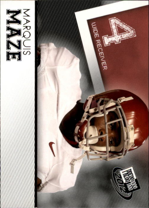 2012 Press Pass #32 Marquis Maze