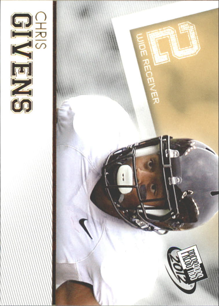 2012 Press Pass Gold #17 Chris Givens