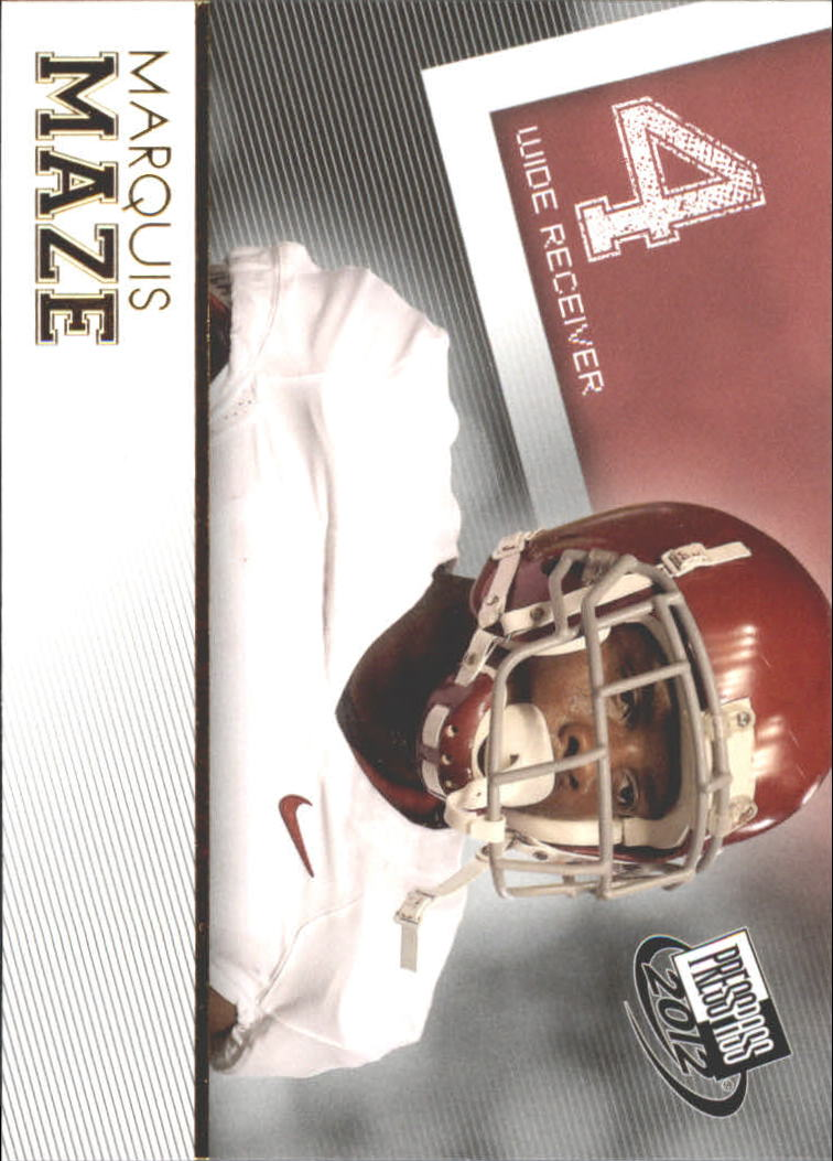 2012 Press Pass Gold #32 Marquis Maze