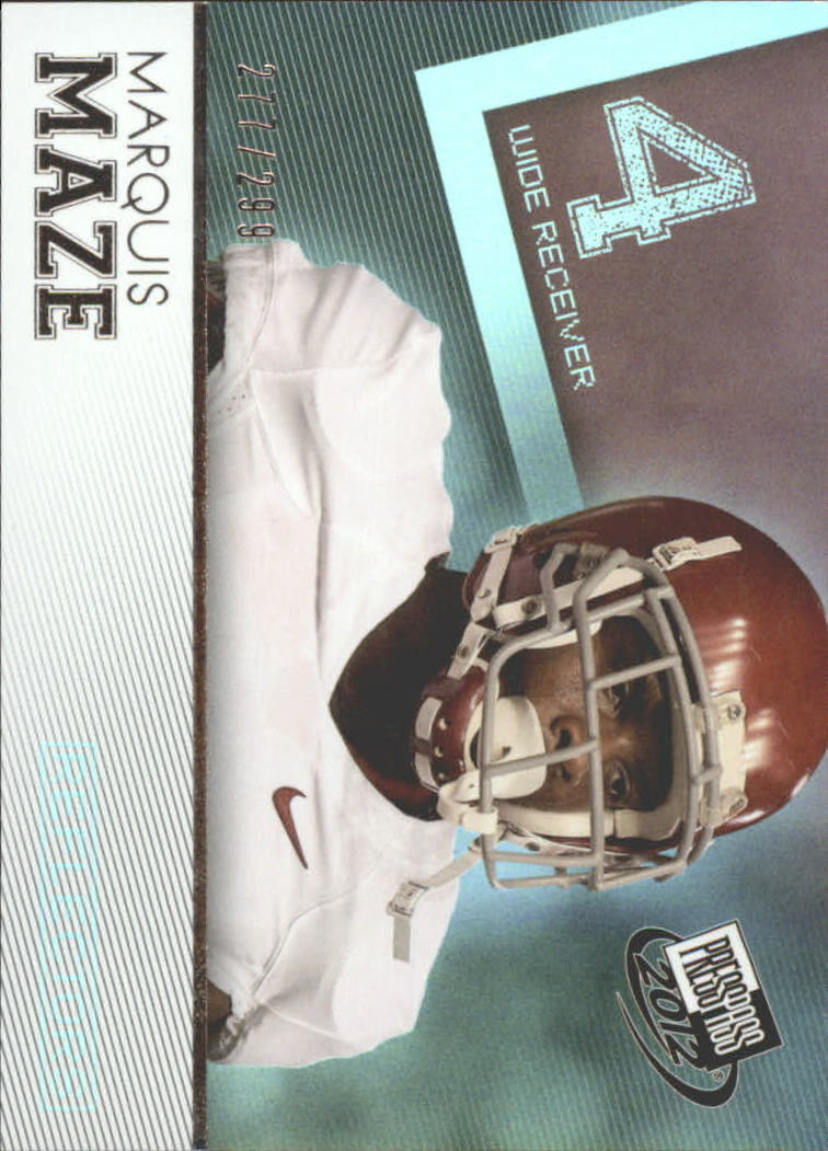 2012 Press Pass Reflectors #32 Marquis Maze