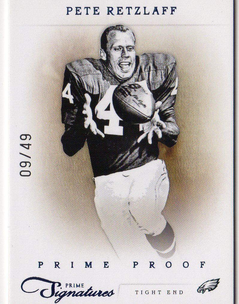 2011 Prime Signatures Prime Proof Blue #135 Pete Retzlaff