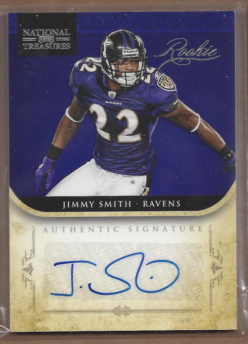 2011 Playoff National Treasures #248 Jimmy Smith AU RC