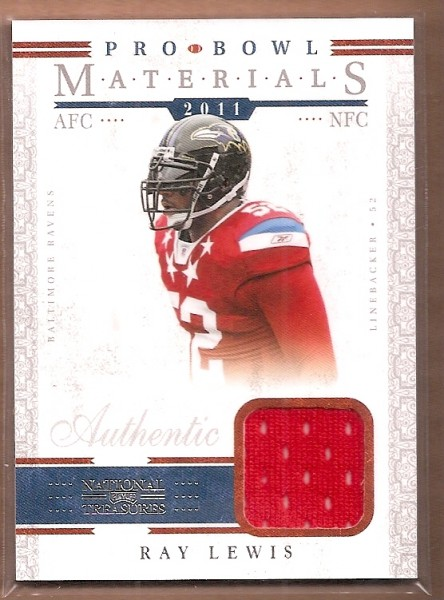 2011 Playoff National Treasures Pro Bowl Materials #2 Ray Lewis