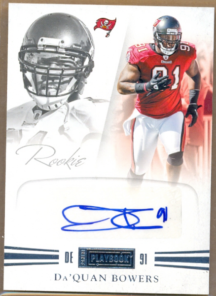 2011 Panini Playbook #62 Da'Quan Bowers AU/299 RC