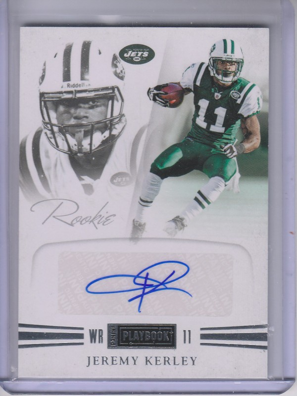 2011 Panini Playbook #70 Jeremy Kerley AU/299 RC