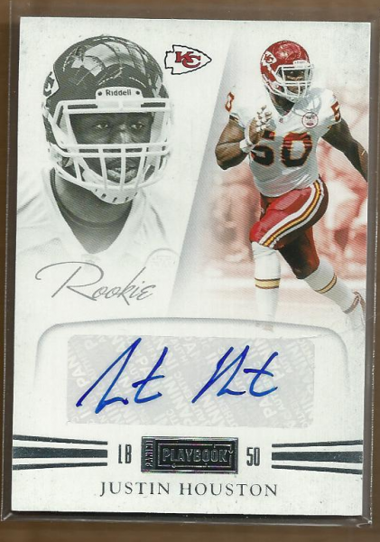 2011 Panini Playbook #74 Justin Houston AU/299 RC