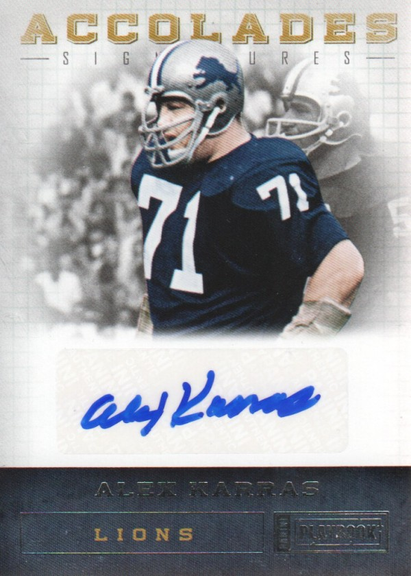 2011 Panini Playbook Accolades Signatures #97 Alex Karras/49