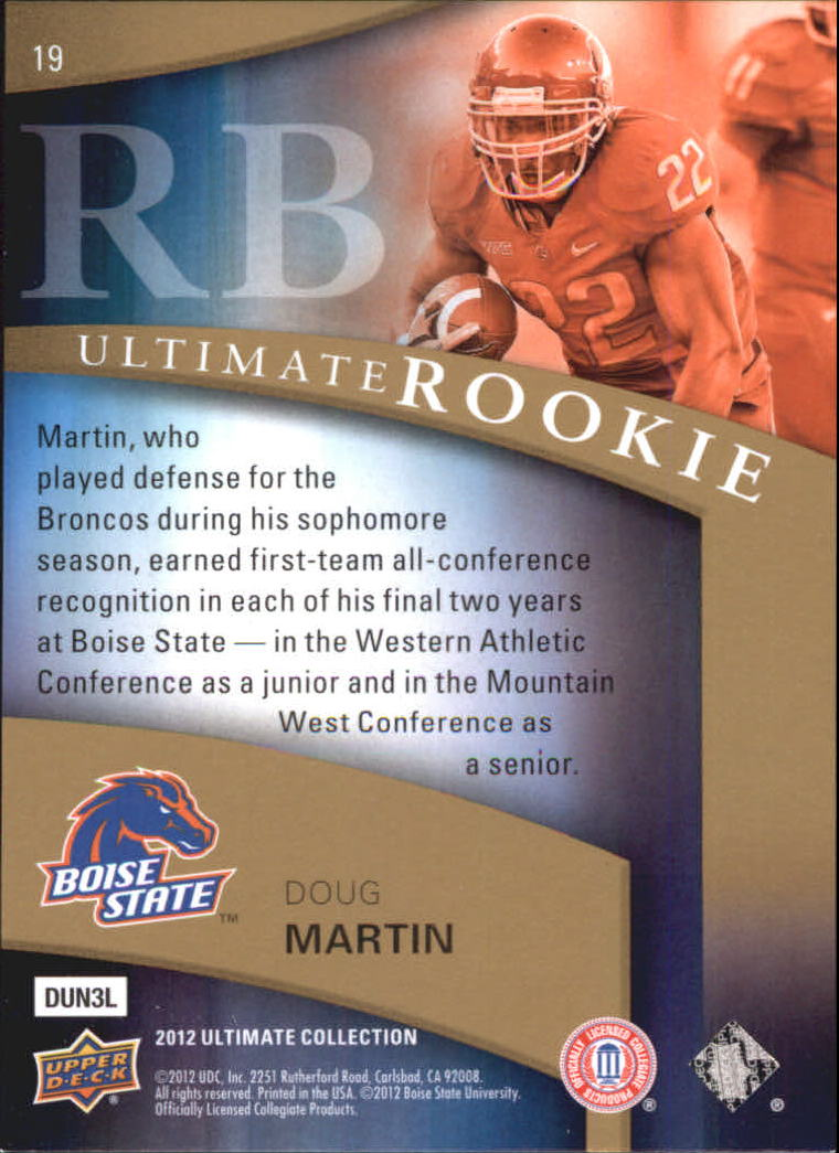 2012 Ultimate Collection #19 Doug Martin