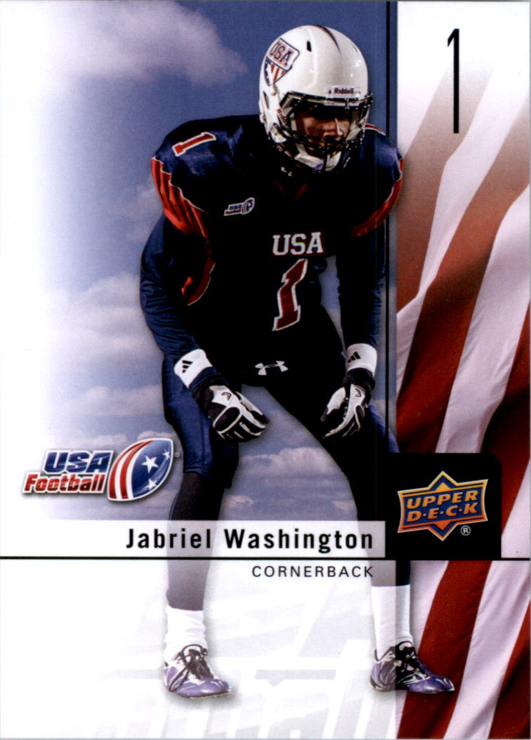 2011-12 Upper Deck USA Football #1 Jabriel Washington