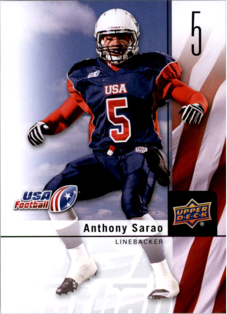 2011-12 Upper Deck USA Football #5 Anthony Sarao