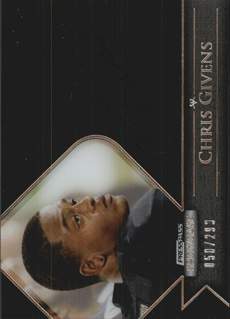 2012 Press Pass Showcase #SCCG1 Chris Givens/299