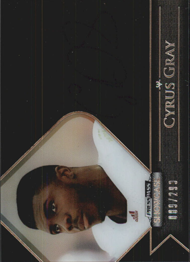 2012 Press Pass Showcase #SCCG2 Cyrus Gray/246*