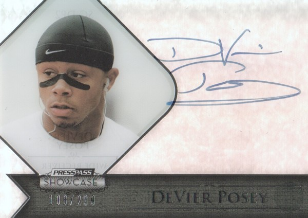 2012 Press Pass Showcase #SCDP DeVier Posey/299