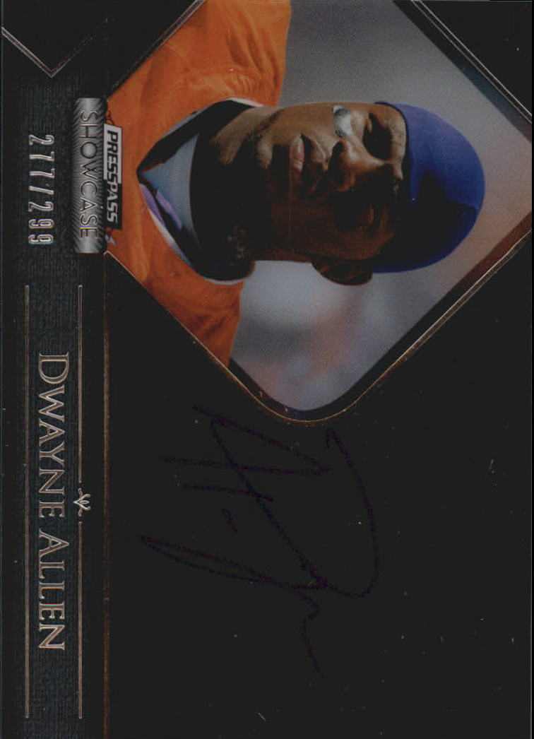 2012 Press Pass Showcase #SCDA Dwayne Allen/299